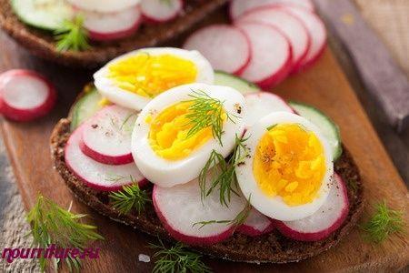Салат с редисом и яйцом (для бутербродов)