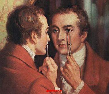 """Томас Юнг и его слуга (из романа И. Егоровой """"Тайный архив Исаака Ньютона"""")"""