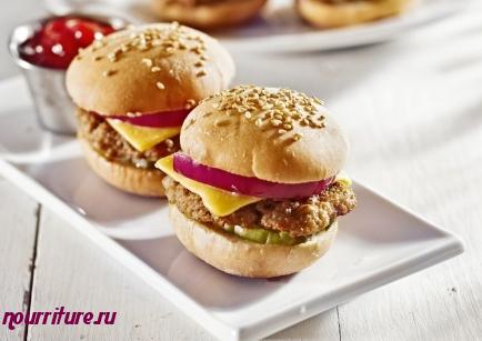 Бутерброды калорийные с котлетой
