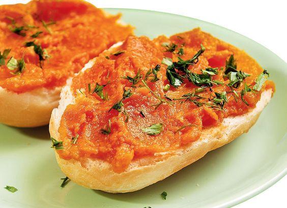 Бутербродная масса из тыквы с луком