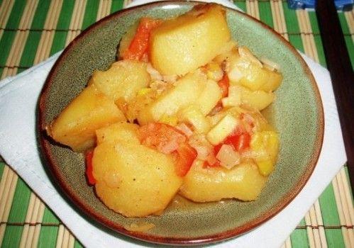 Картофель жареный с помидорами
