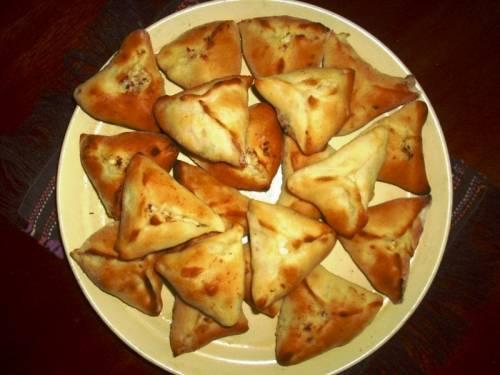Пирожки со сморчками и бараниной (говядиной)