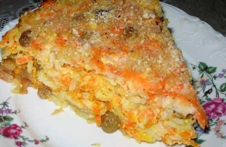 Запеканка из моркови с яблоками