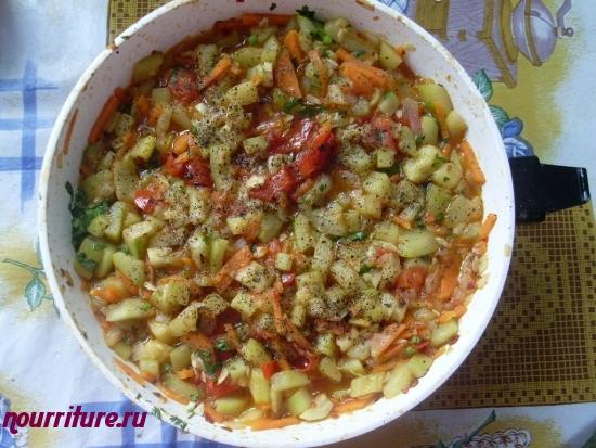 Рагу из кабачков с помидорами