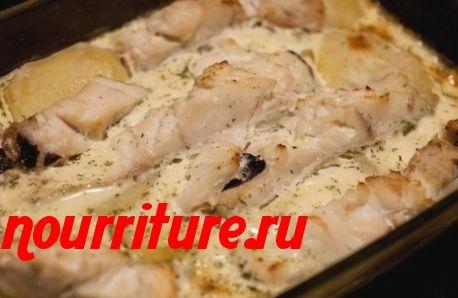 Рыба на сковороде с картофелем