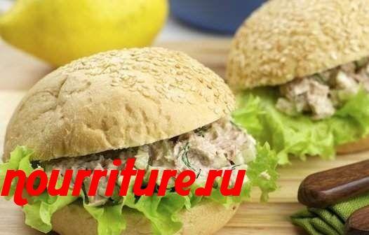 Бутерброды с рыбным салатом