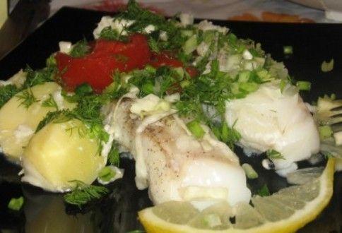 Рыба, сваренная на пару