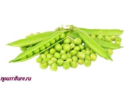 Зелёный горошек с гренками