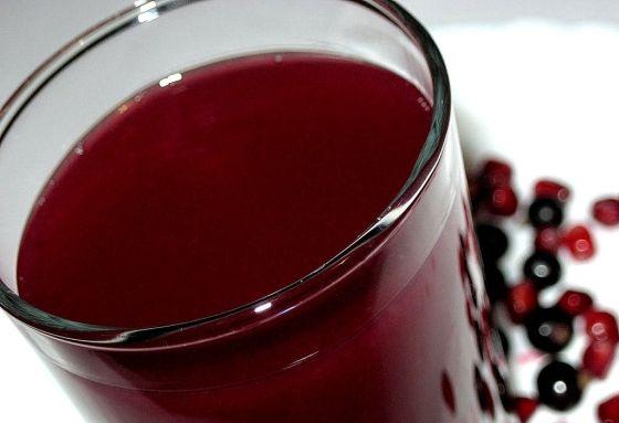 Кисель из сушёных ягод чёрной смородины