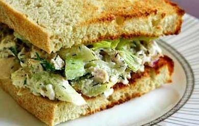 Бутерброды калорийные с куриным салатом
