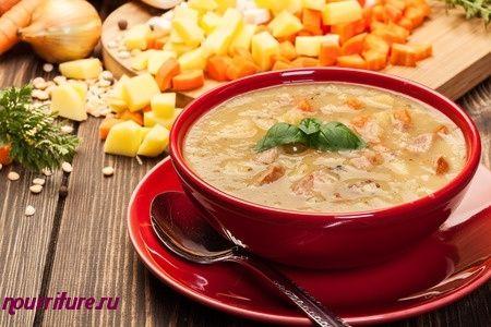 Суп гороховый по-польски