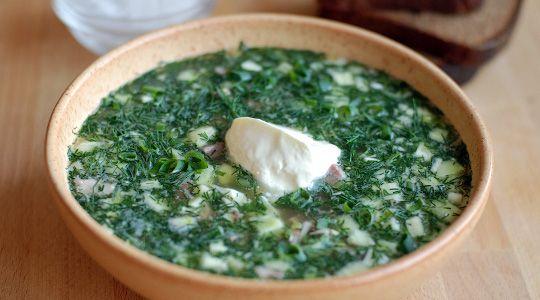 Ботвинья (холодный суп с рыбой)