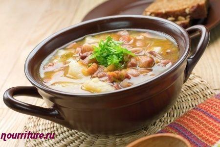 Постный суп из фасоли или гороха