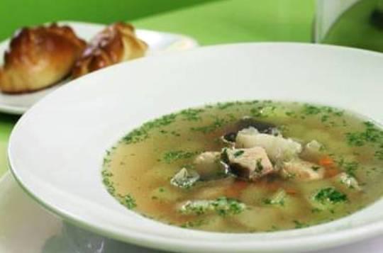 Картофельный суп с рыбой
