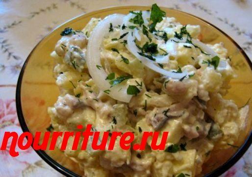 Салат из сельди с сельдереем