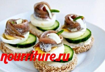 Бутерброды канапе с кильками