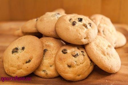 песочное печенье с изюмом рецепт