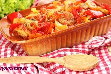 Овощное рагу с белой фасолью (при сердечных заболеваниях)