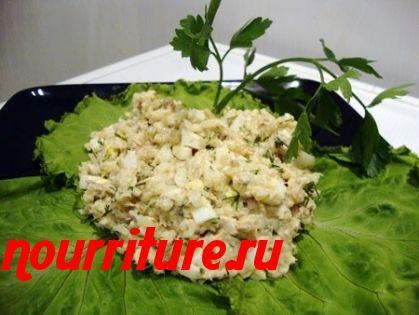 Салат из консервированной скумбрии в масле