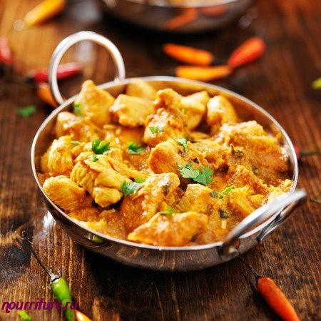 Пряная курица по-индийски
