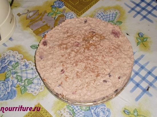 Торт с вишнёво-творожным кремом