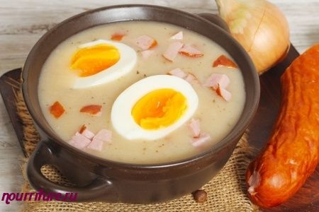 Как готовить западноукраинский суп журек?