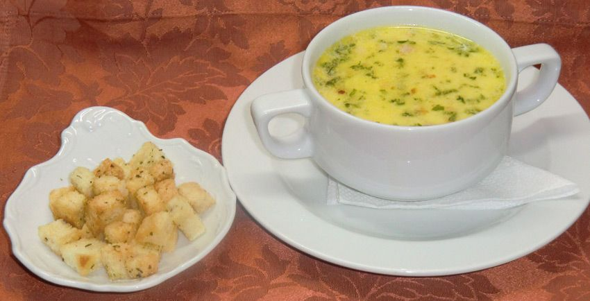 Приготовление гренков для супа
