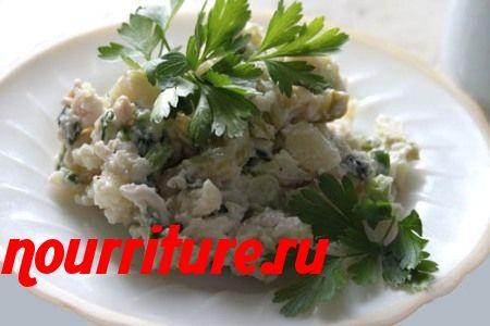 Рыбный салат из речных карасей