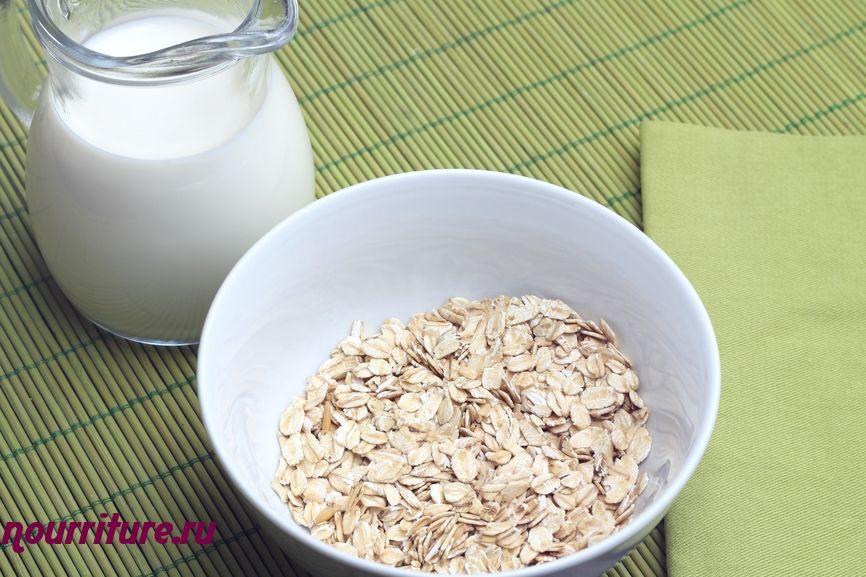 Овсяная или ячневая каша с молоком