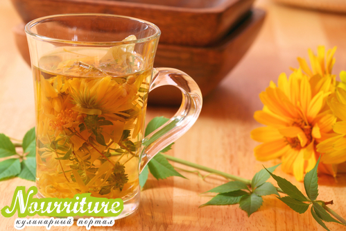 Чай с календулой при гипертонии, нервозности и цистите