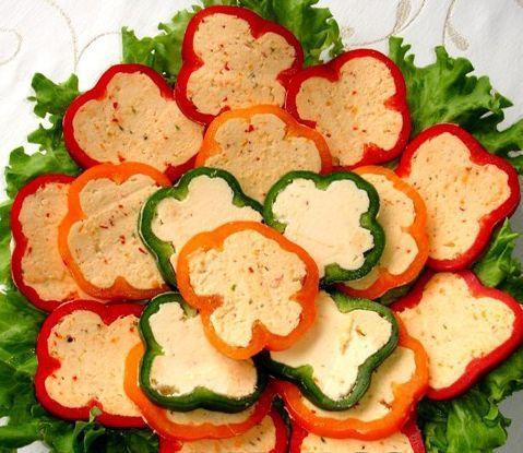 Перец, фаршированный творогом (при повышенном холестерине)