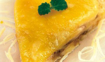 Бутербродная масса из сыра со сливами или бананами