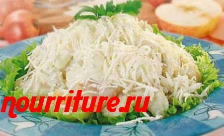 Рыбный салат с брынзой
