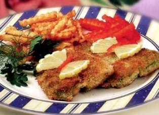 Рыба фри с зелёным маслом