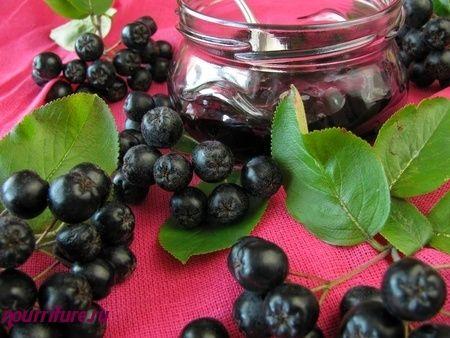 Варенье из черноплодной рябины на соке красной смородины