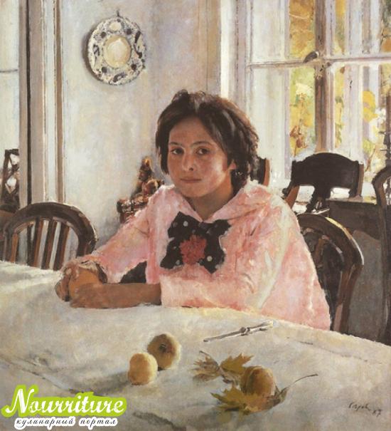 """Вкусные картины: """"Девочка с персиками"""" Серова"""