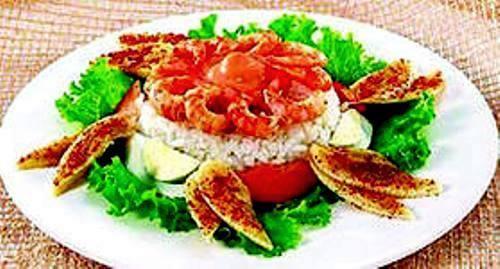 Холодное индонезийское рисовое блюдо