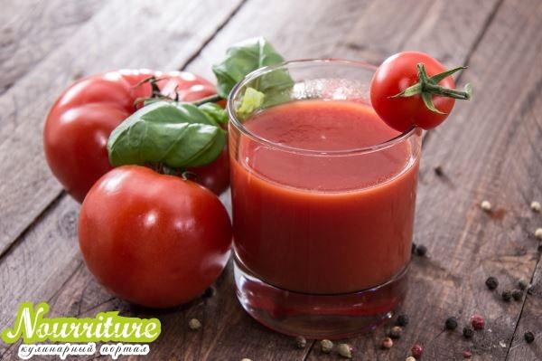 Томатный сок с петрушкой при задержке жидкости в организме