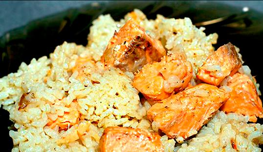 Рецепт риса с рыбой для ребенка