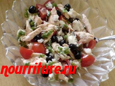 Рыбный салат с пеламидой
