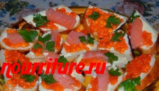 Праздничные бутерброды семгой рецепты фото