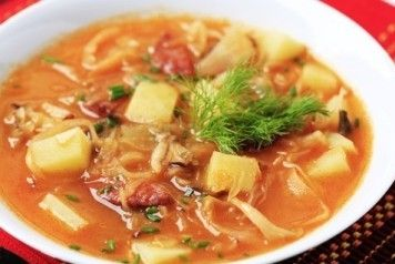 Суп запорожский с кислой капустой