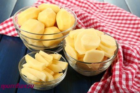 Картофельная запеканка с луком и яйцами