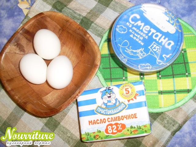 Яйца в сметане по-венгерски