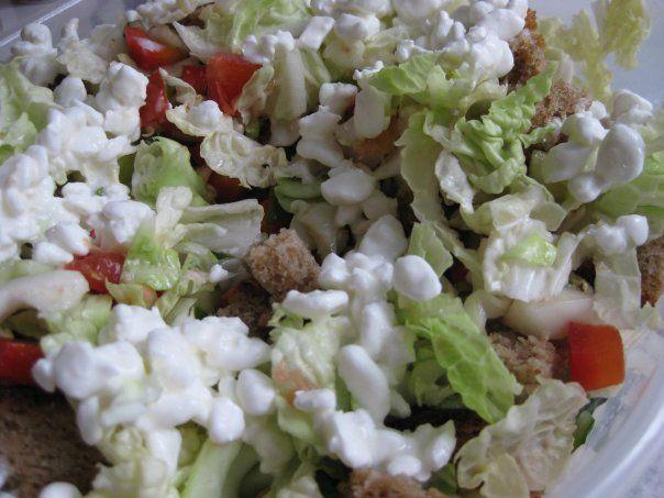Фруктовый салат с зернёным творогом