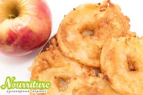 Яблоки во фритюре по-немецки