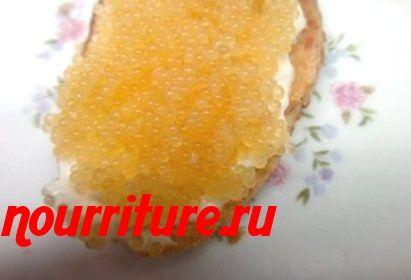 Бутерброды со свежей щучьей икрой