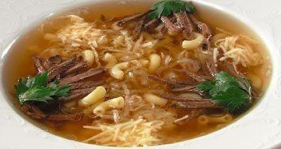 Суп с говядиной и макаронными изделиями при атопической экземе