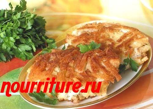 Рыбный шницель, жаренный по-матросски