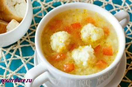 Польский суп с фрикадельками из рыбы